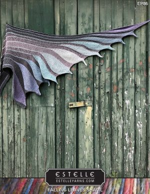 Falling Leaves Shawl Designed by: Estelle