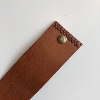 MYS - Wide Cuff Stitched Brown