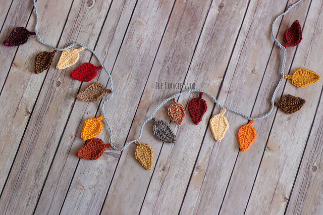 DIY Fall Patterns Fall Leaf Garland Cascade Pacific