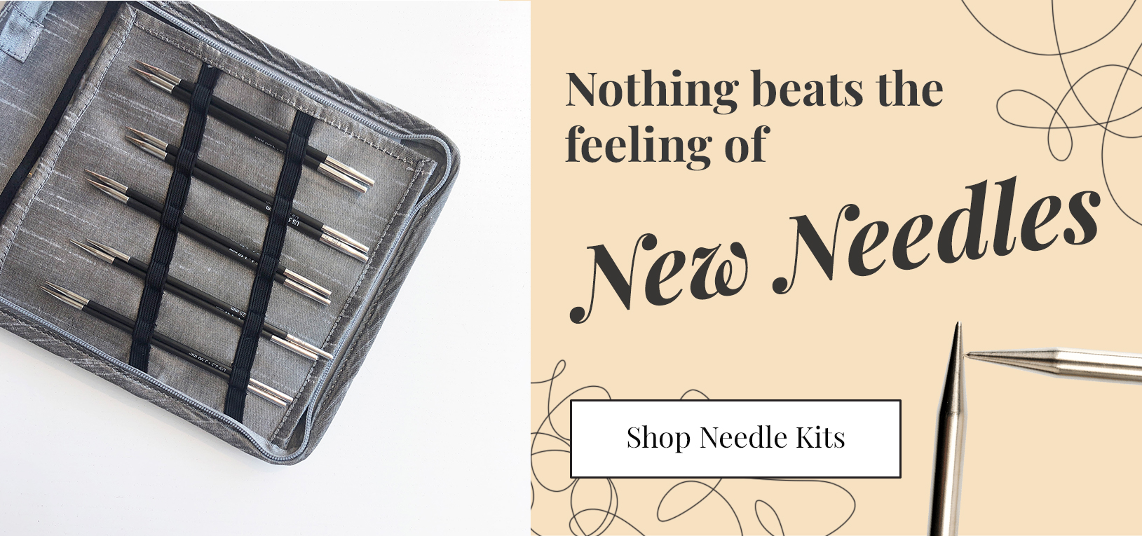 Nothing beats the feeling of New Needles! Shop knitting and crochet needle sets and kits now!