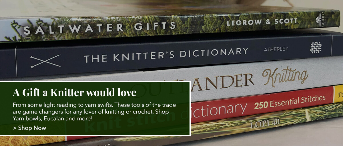 From some light reading to yarn swifts. These tools of the trade are game changers for any lover of knitting or crochet. Shop Yarn bowls, Eucalan and more!