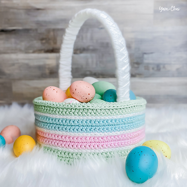 Crochet Classic Easter Basket by Rebecca Langford
