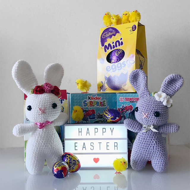Crochet Floral Easter Bunny by Zoe Bartley